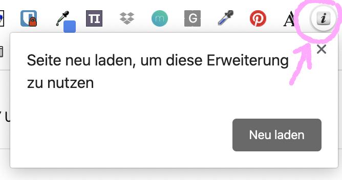 Bildgrößen für Webseiten per Chrome Erweiterung