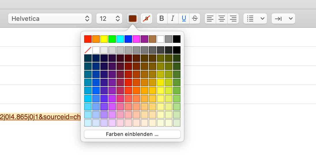 Apple Mail Linkfarbe