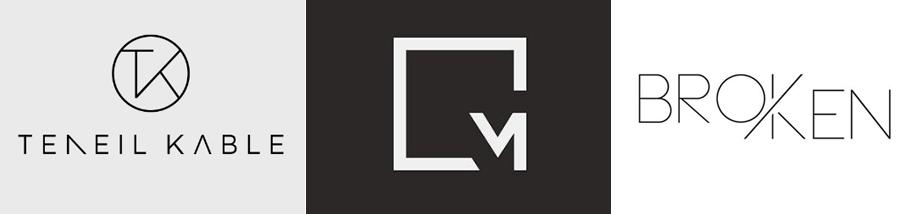 Logo Designs Gebrochene Buchstaben