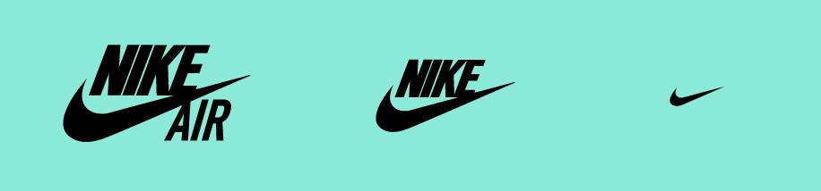 Logo-Varianten Nike