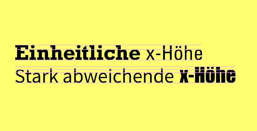 Schriften fürs Web: x-Höhe