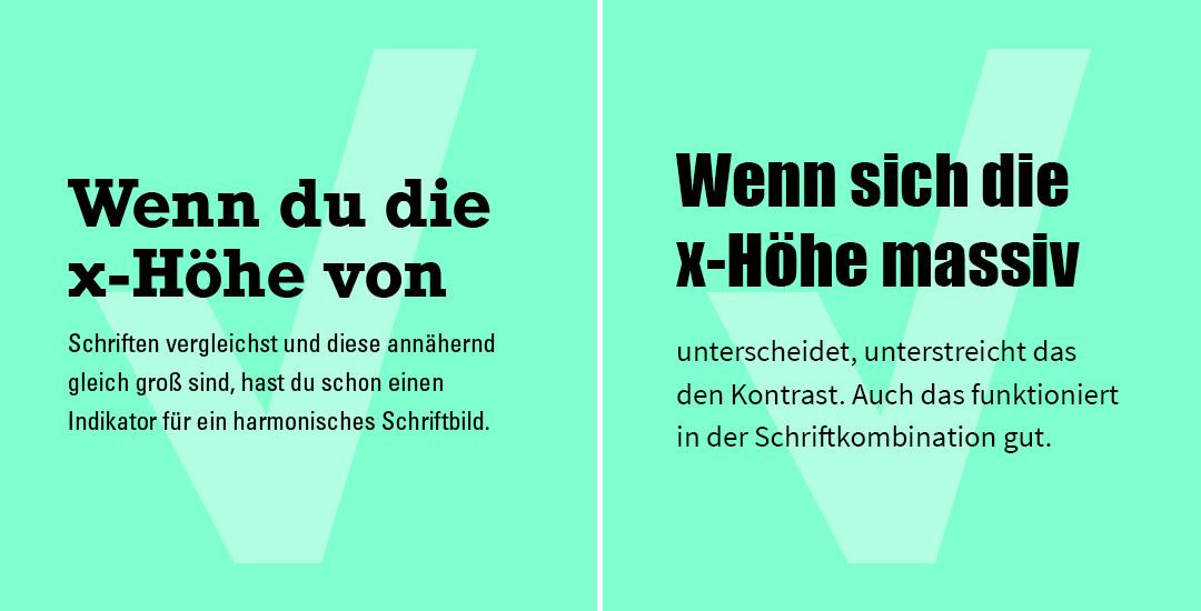 Schriften fürs Web: x-Höhe kombinieren