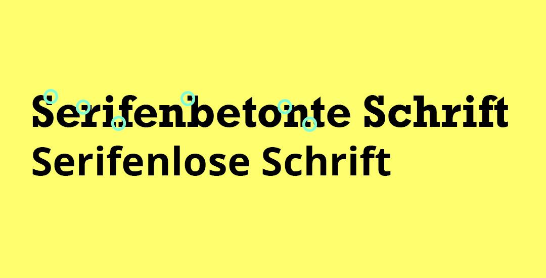 Schriften fürs Web: Serifenbetonte Schrift