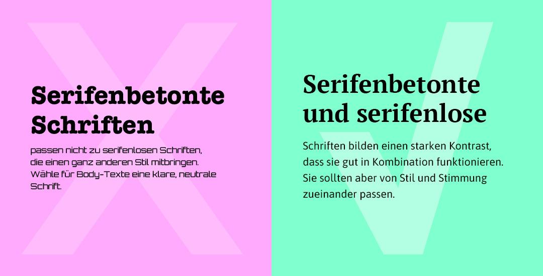 Schriften fürs Web: Serifenbetonte und serifenlose Schrift