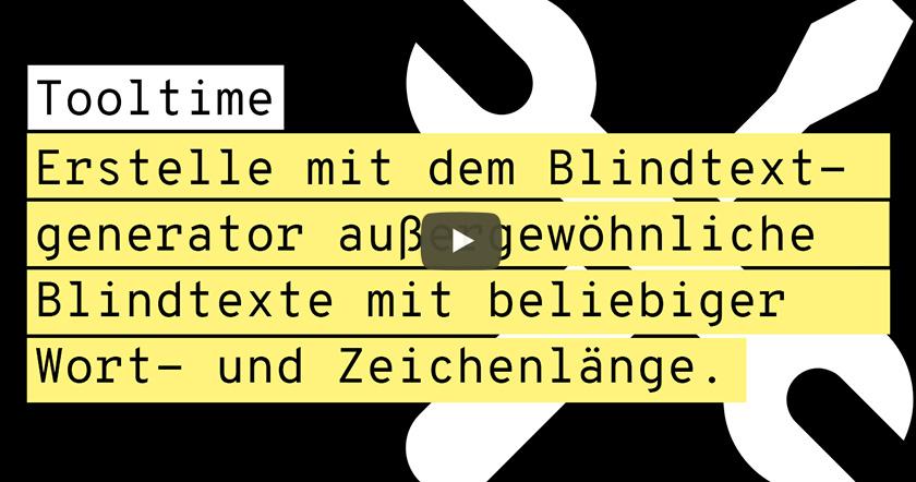 Toolvorstellung: Blindtextgenerator