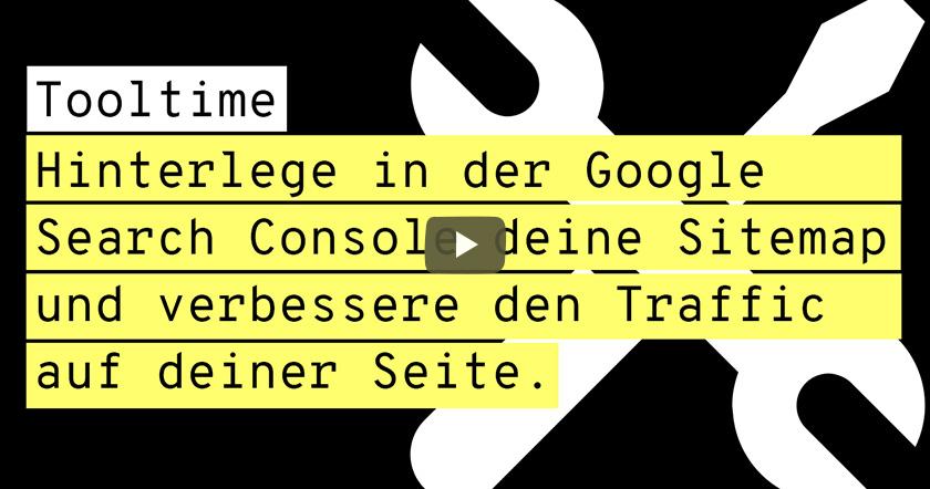 Google Search Console: Sitemap einrichten