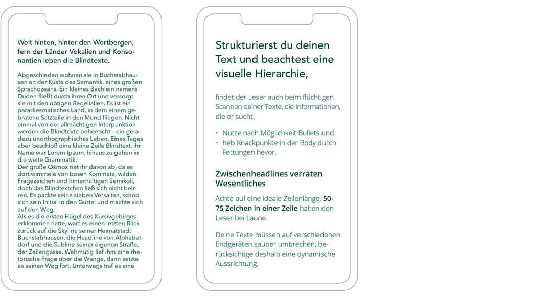 Typografie im Web: Visuelle Hierarchie