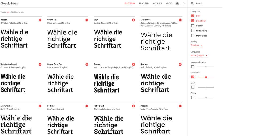 Typografie im Web: Schriftauswahl